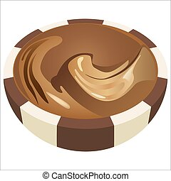 chocolate candy - sweet chocolates in a cut isolated on...