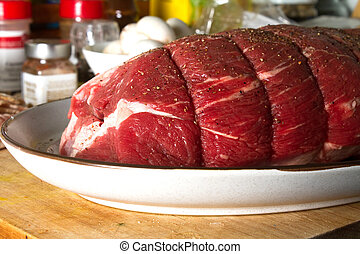 Sirloin tip Roast - Sirloin Tip roast prepared for dinner