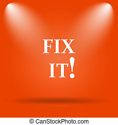 Fix it icon. Internet button on orange background.