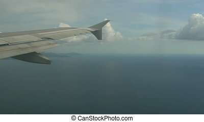 Minutes before landing - Aerial view through the cabin...