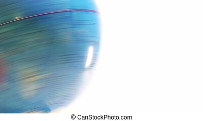 spinning globe on a white background Education