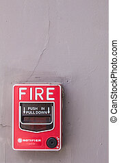 fire alarm on the building - When the fire alarm mounted on...