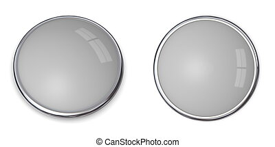 3D Button Solid Grey - 20% - 3D button in solid 20 percent...