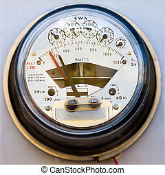 Residential electric power meter - Dial type residential...