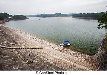 The boat on Teanding lake in China