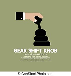 Gear Shift Knob - Gear Shift Knob Vector Illustration