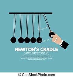 Flat Design Newton's Cradle.