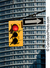 Red Traffic Light close up