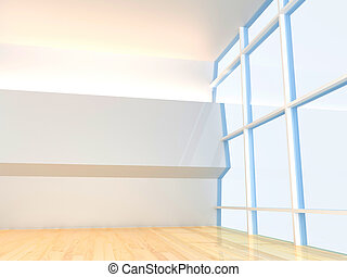 Empty Room ceiling with window
