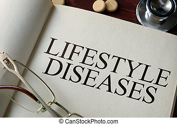 Lifestyle diseases - Book with diagnosis Lifestyle diseases...