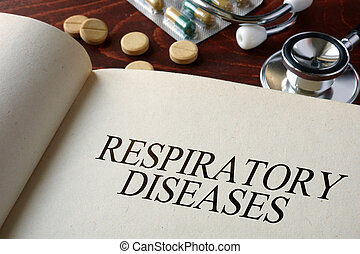 respiratory diseases - Book with diagnosis respiratory...