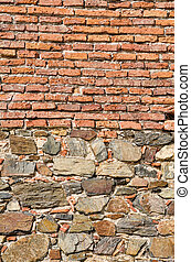 Archeology - Several layers on a wall at an archeological...