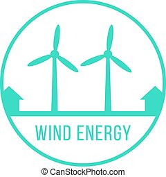 wind energy green logotype