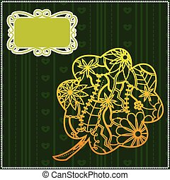 Background with clover - Vector background with clover