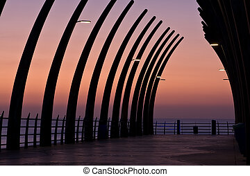 Umhlanga Pier sunrise - Sunrise over Umlanga Pier from the...