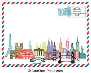 Luftpost reisen - Airmail letter Travel