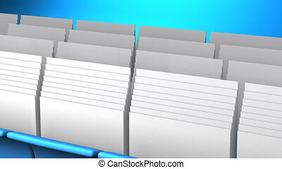 Folders And Documents - Blue Folders And Documents On Blue...