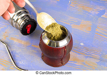 Preparing mate - Getting ready to prepare a traditional mate...