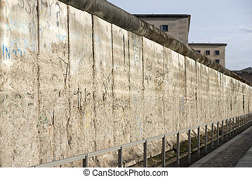 Berlin wall - daytime view to the famous Berlin wall