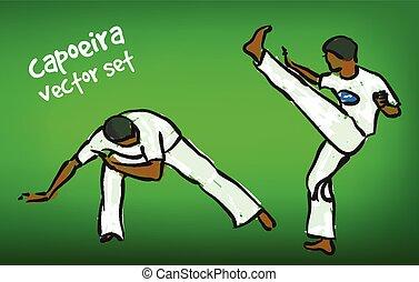 vector capoeira set - Traditional brazilian capoeira...