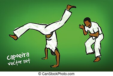 vector capoeira set - Traditional brazilian capoeira...