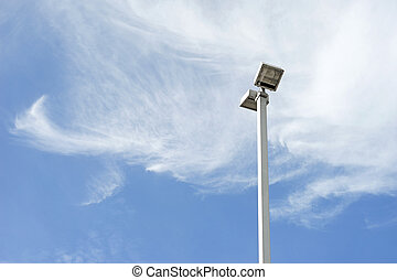 light post on beautiful sky background