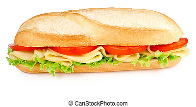 sandwich with cheese tomatoes and lettuce