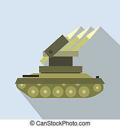 Anti-aircraft warfare flat icon for web and mobile devices