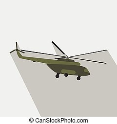Helicopter flat icon for web and mobile devices