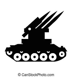 Anti-aircraft warfare simple icon for web and mobile devices