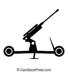 Howitzer artillery simple icon for web and mobile devices