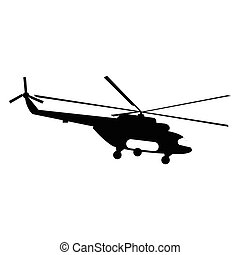 Helicopter simple icon for web and mobile devices