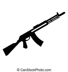 Submachine gun simple icon for web and mobile devices
