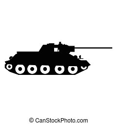 Tank simple icon for web and mobile devices
