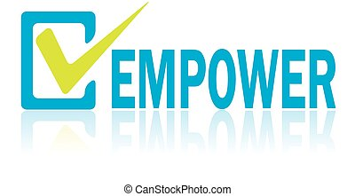 Business Concept, Vector of Empower Text - Business concept,...