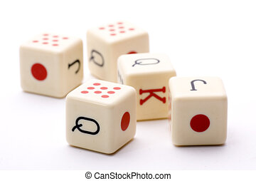 five dice together