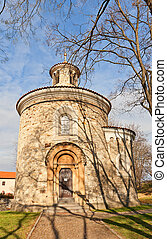 Rotunda of St Martin XI c of Vysehrad in Prague UNESCO site...