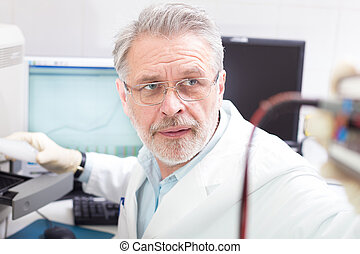 Life scientist researching in the laboratory - Life science...