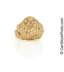 Gold nugget - Large gold nugget isolated on white background...