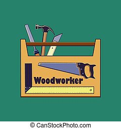 Carpentry tool,labels and design elements - Carpentry works...