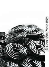 licorice candy wheels - Rolls of tasty liquorice candy rolls...