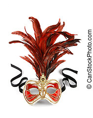 Venetian mask - Decorative venetian carnival mask isolated...