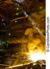 Process of manufacturing metal at the plant