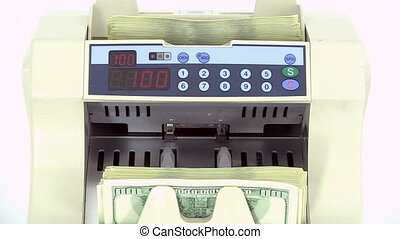 Cash money counting machine.