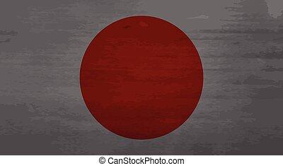 Grunge messy flag Japan