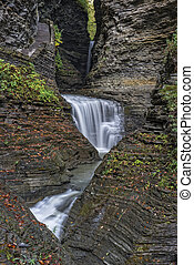 Waterfalls Of Watkins Glen State Park - Gorge Waterfalls At...