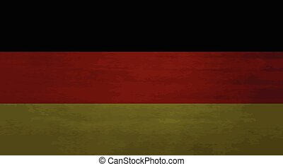 Grunge messy flag German