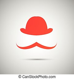 vector red hat on a white background