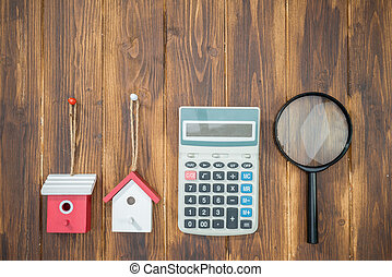 buy house Mortgage calculations, calculator with Magnifier...