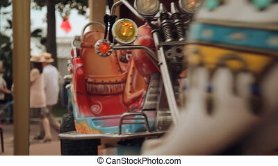 Merry-go-round carousel lower - Cannes - CIRCA MAY 2012 -...